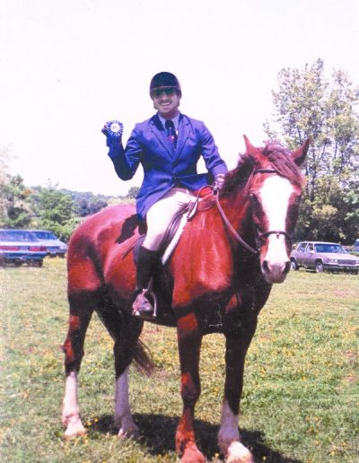 Blue Ribbon in Show Jumping